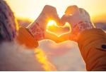 stock-photo-woman-hands-in-winter-gloves-heart-symbol-shaped-lifestyle-and-feelings-concept-with-sunset-light-230227600
